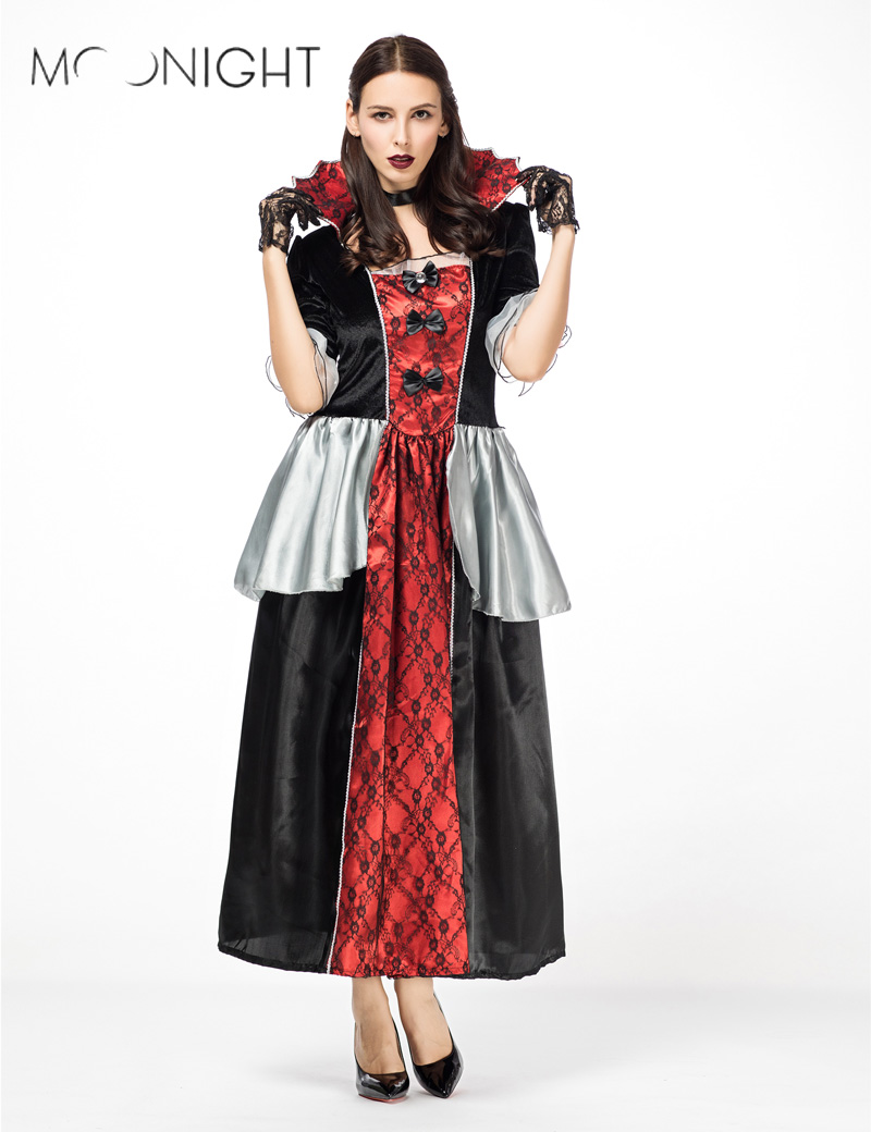 MOONIGHT <font><b>Halloween</b></font> <font><b>Sexy</b></font> <font><b>Queen</b></font> Witch Costumes Adult Women Carnival Party Cosplay Fancy Dress Costumes Party image