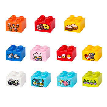 цена на Children Kid Toys 2x2 Building Blocks Bricks Large Particles Plastic Inserted Assembled Block Educational Decoration Toy