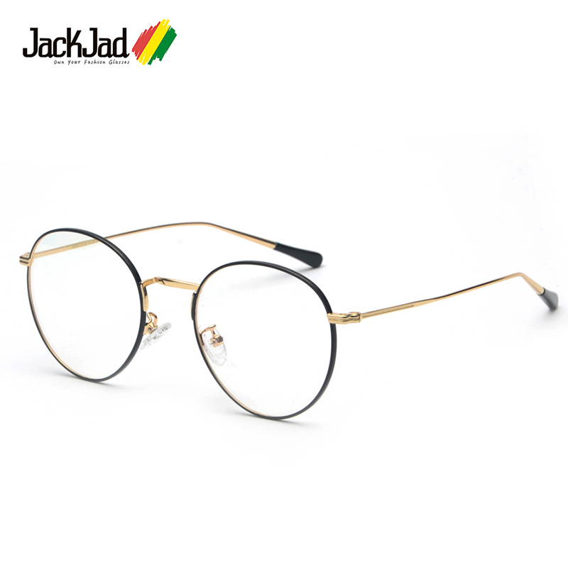 JackJad 2018 Fashion Trend Vintage Round Metal Style Plain Glasses Women Brand Eyewear Frame Glasses Frame Oculos De Grau S23003