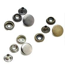 Buttons wholesale. Cotton jacket leather coin purse. Snap button. Brass snap Metal Button 201