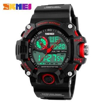 SKMEI 1029 Mannen Sporthorloges Waterdichte Fashion Casual Quartz Horloge Digitale Man Analoge Militaire Multifunctionele Horloges