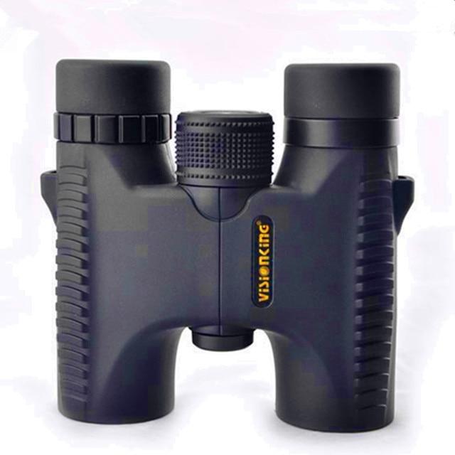 Visonking 10x26 T Professional Binocular Telescope Long Range Spyglass Waterproof Camping Hunting Tools BAK4 Roof Guide Scope
