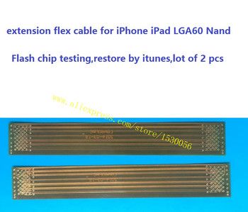 extension flex cable for iPhone iPad LGA60 Nand Flash chip testing,restore by itunes,lot of 2 pcs image
