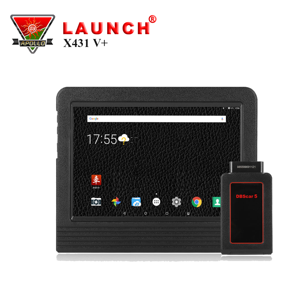 2017 Version Launch X431 V+ ScanPad Wifi/Bluetooth OBD 2 Scanner Car Diagnose With 2 years Free Update