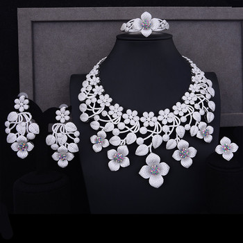 GODKI Super BIG Luxury 4PCS Nigerian Jewelry Sets For Women Wedding Cubic Zirconia Crystal CZ Indian African Bridal Jewelry Sets