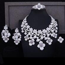 GODKI Super GROTE Luxe 4 stks Nigeriaanse Sieraden Sets Voor Vrouwen Wedding Zirconia Crystal CZ Indian Afrikaanse Bruids Sieraden sets