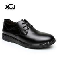 Genuine Leather Shoes Men Dress Shoes Men Classic Business Shoes Brand Men Formal Flats Plus Big Size 46 Gentleman Slip on XCJ