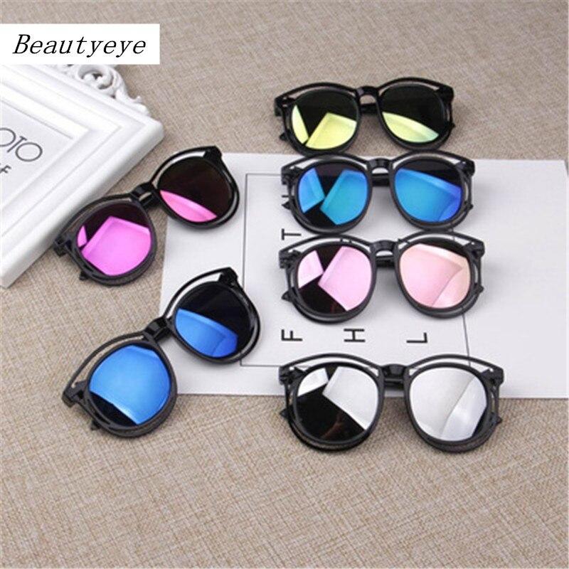 Beautyeye Designer 2018 Sunglasses Children Fashion Color Sunglasses Square Bilateral Hollow Girls Sunglasses High Quality