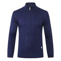 TACE&SHARK Billionaire sweater men's 2018 launching commerce comfort zipper collar geometry pattern wool clothing free shipping