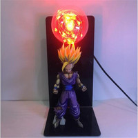New Arrival Dragon Ball Son Goku Strength bombs Cartoon Model LED Table Lamp 3D Anime Classic Character Modeling Night Lamp