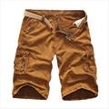 Новый 2017 Brand мужская Повседневная Камуфляж Свободные шорты Плюс размер 29-38 Чистый хлопок Многие карманы военные короткие брюки комбинезоны