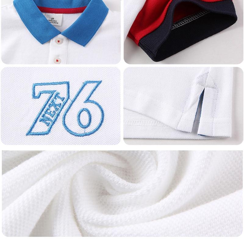 Chłopcy Koszulki polo Dzieci 2018 Letnie ubrania z krótkim rękawem - Ubrania dziecięce - Zdjęcie 4