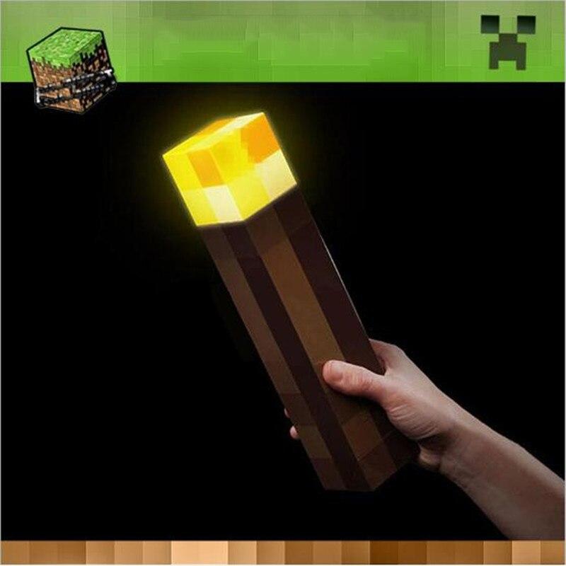 Hot Minecraft Light Up Torch LED Night Lâmpada Original Light-Up Brinquedos de Mão ou de Montagem Na Parede Novo Diamante minério de Lâmpada para as crianças Presentes