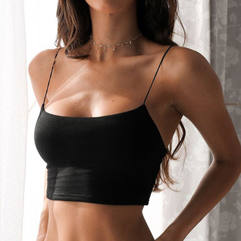 Fashion Women Clothing Crop Top Sleeveless  Off Shoulder Hollow Out Halter Tops Sexy Wrap the chest Top