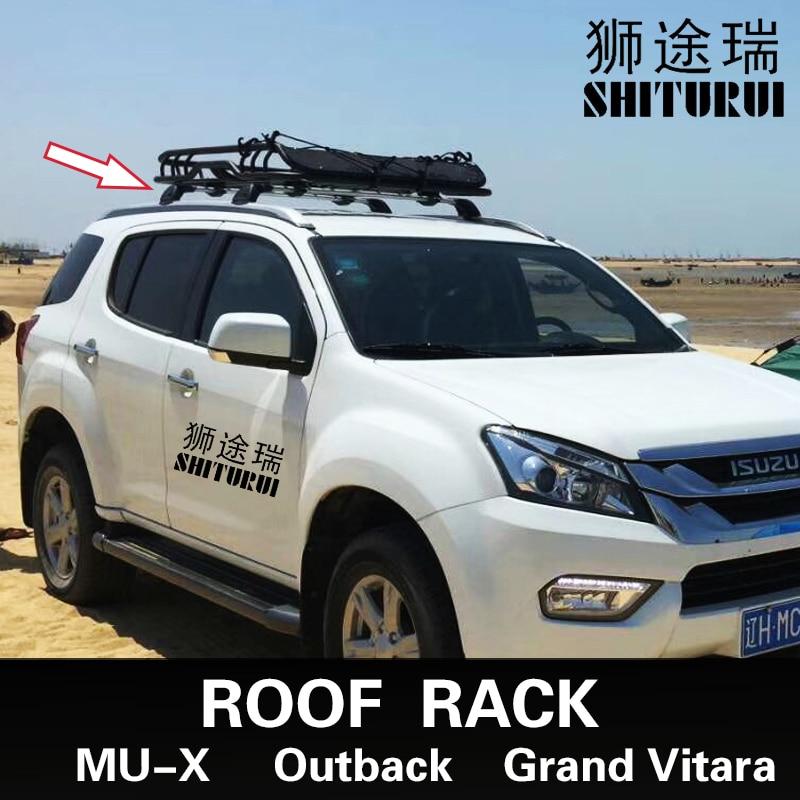 POUR Isuzu MU-X SUBARU Outback 2007-2018 Suzuki Grand Vitara Voiture chauve section muet section croix bar barre de charge en alliage d'aluminium