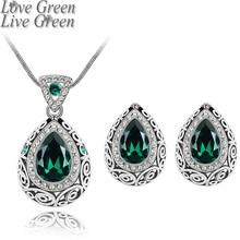 Модный свадебный подарок для вечеринки, брендовый свадебный кристалл, королева, подвеска в виде капли воды, ожерелье, серьги, ювелирный набор 84191