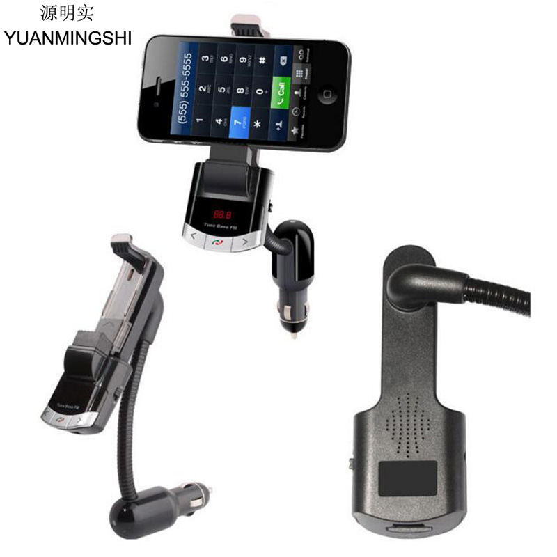 YUANMINGSHI Wireless Bluetooth Car FM Transmitter Radio Adapter MP3 Music Player Car Kit with Phone Mount Holder Handsfree Call