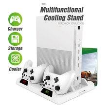 Oivo duplo controlador estação de carregamento doca para xbox um resfriamento vertical suporte jogos carregador de armazenamento para xbox um/s/x console
