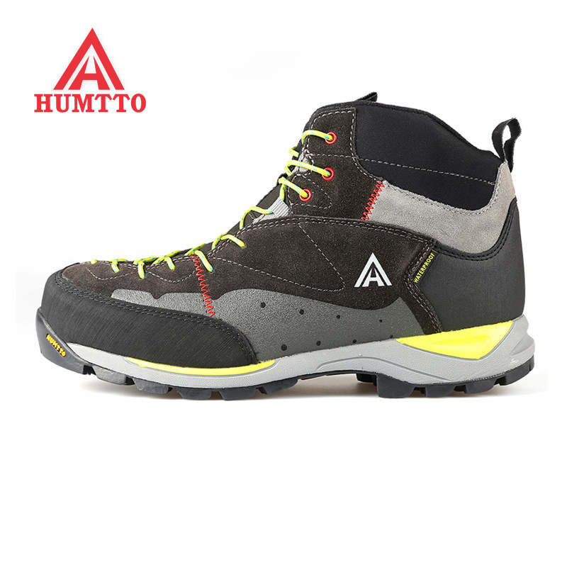 HUMTTO  Men Women Mid-top Waterproof Leather Hiking Shoes Outdoor Boots Trail Trekking Camping Climbing Outventure Hunting Shoes 2016 man women s brand hiking shoes climbing outdoor waterproof river trekking shoes