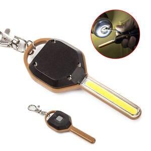 Mini LED Torch Flashlight-Light Keychain-Lamp Emergency LO88 Key-Shape
