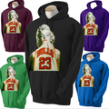 NEW MARILYN MONROE BULLS HOODIE WEARING TANK JERSEY COLLEGE PARTY HOT  HOODIE