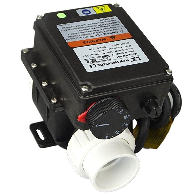 LX H30 Rs1 heater3kw con termostato ajustable para calentador de bañera y bañera de hidromasaje y calentador de bañera de spa para piscina China spa-in Calentadores de patio from Hogar y Mascotas    1