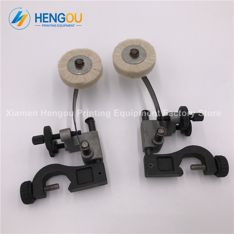 2 Pairs DHL Free Shipping Komori brush wheel with seat frame Komori paper wheel width 7.9cm 1 pair china post free shipping komori paper brush wheel with seat frame width 7 9cm