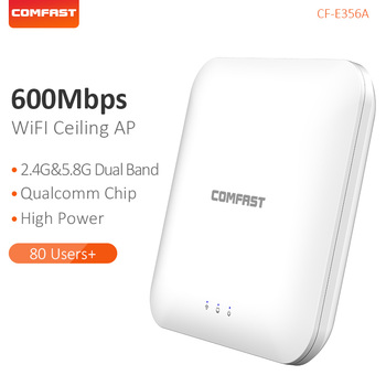 COMFAST Dual Band 2.4G&5.8G Access Point Ceiling AP High Speed 600Mbps Wireless Router WiFi Signal Amplifier Extender CF-E356A