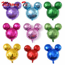 hot deal buy 10pcs mini mickey minnie mouse head aluminum foil balloons helium globos baby shower birthday party decoration ballons supplies