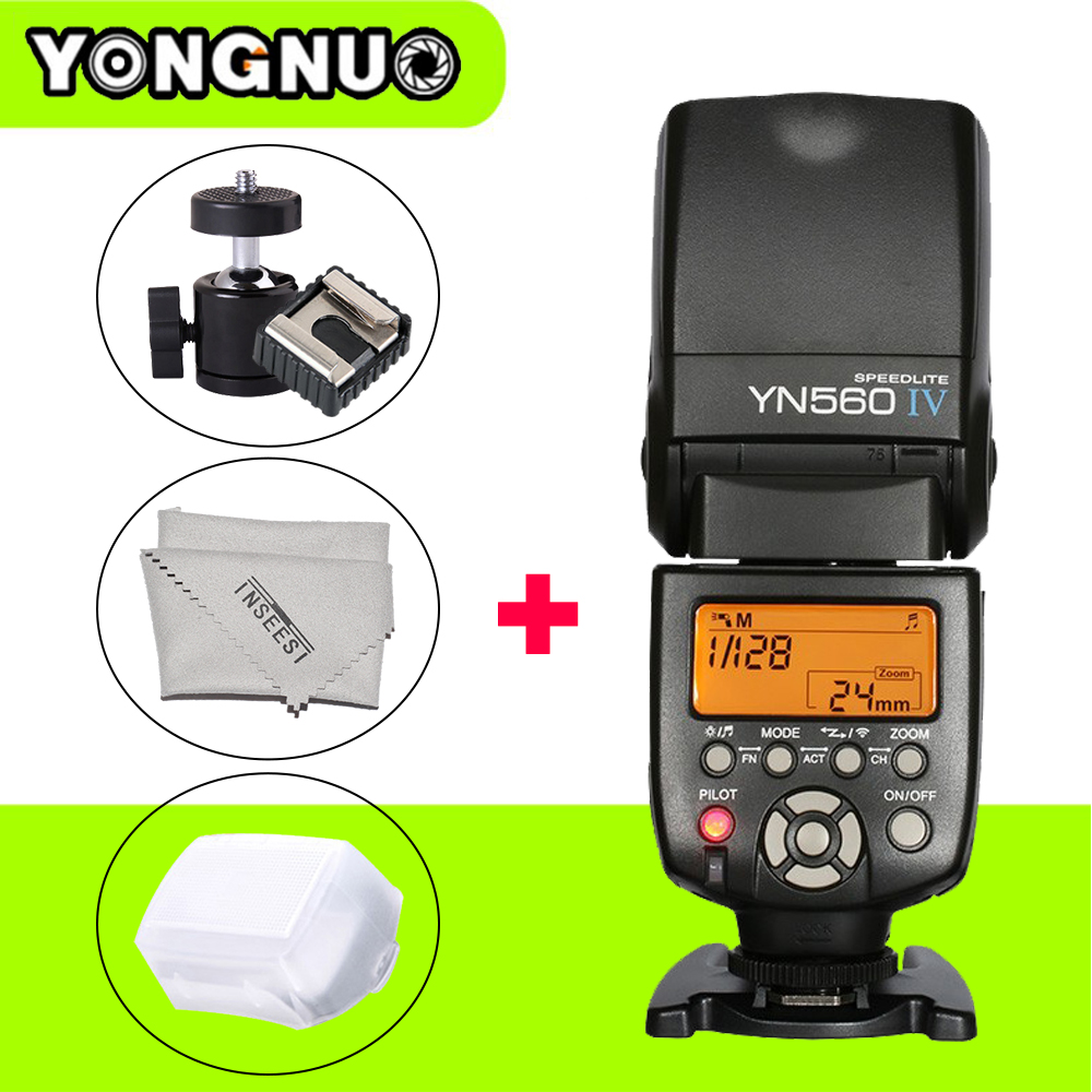 YONGNUO YN560IV Wireless Universal Master Slave Flash Speedlite YN-560 IV for Canon Nikon Pentax Sony VS INSEESI IN560IV JY680A yongnuo universal yn560 iv lcd flash supports wireless radio master function flash speedlite for canon nikon pentax olympus sony