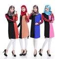 Camisa de vestir abaya musulmán Islámico turco Vestido de dubai kaftan abaya Musulmán ropa Islámica turca jilbab hijab 33142