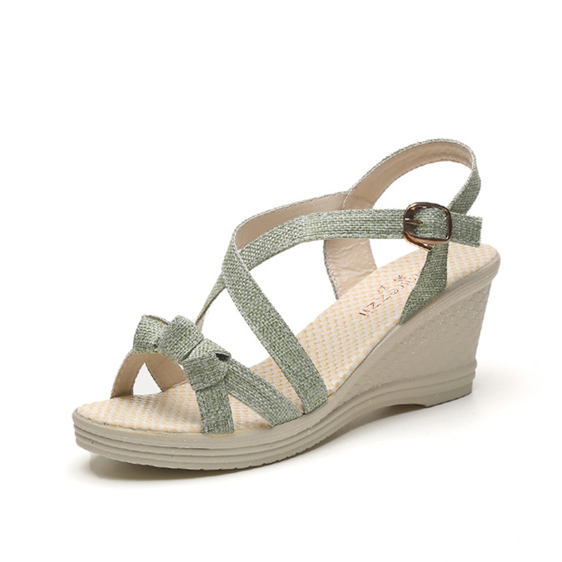 KUIDFAR Women Sandals Shoes Woman Fashion Wedges Shoes Platform Sandals Summer Open Toe Footwear Thick Heel Zapatos de mujer 2017 new summer shoes woman platform sandals women genuine leather casual open toe gladiator wedges women shoes zapatos mujer