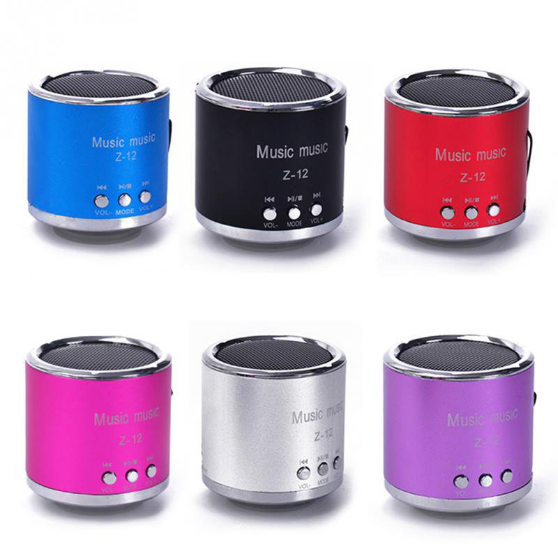 Z12 Mini Stereo Radio Subwoofer Wireless Bluetooth Speaker Portable TF FM USB AUX Music Boombox For Phone Computer PC