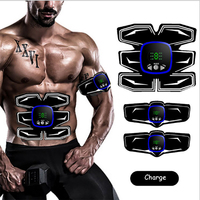 Rechargeable Abdominal Muscle Trainer With Display Sport Press Stimulator Absence Gym Equipment Fitness Apparatus EMS Abdominal