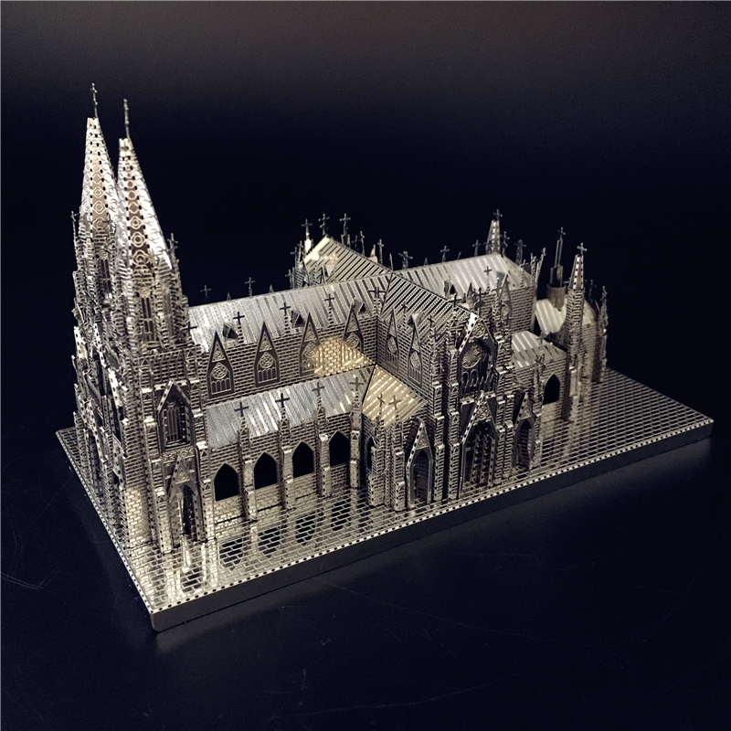 Creative Toys Jigsaw-Toy Model-Kits Assembly-Model Laser-Cut 3d Puzzle Metal Cathedral