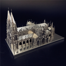 MMZ MODEL Nanyuan 3D Puzzle Metal Assembly Model St. Patricks Cathedral Model Kits  DIY 3D Laser Cut Jigsaw Toy Creative toys
