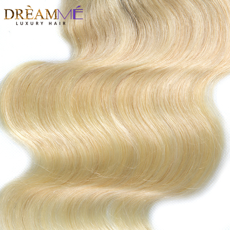 Dreamme Hair 1B / 613 Body Wave 4x4 Fermeture À Lacets Ombre - Cheveux humains (noir) - Photo 5