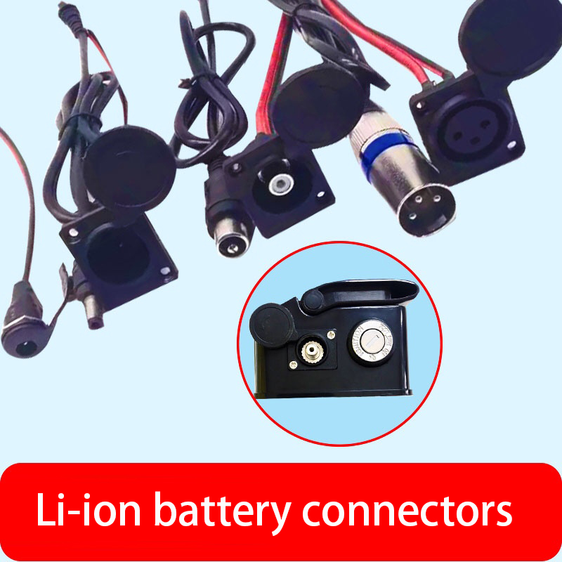 eBike Li-ion Battery Plug Socket Charge Cable Wire Connector GX12 T type Canon