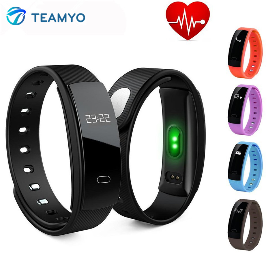 TEAMYO Bluetooth Android IOS Smart Band Watches Blood Pressure Heart Rate Bracelet Fitness Tracker Call reminder Sport Wristband