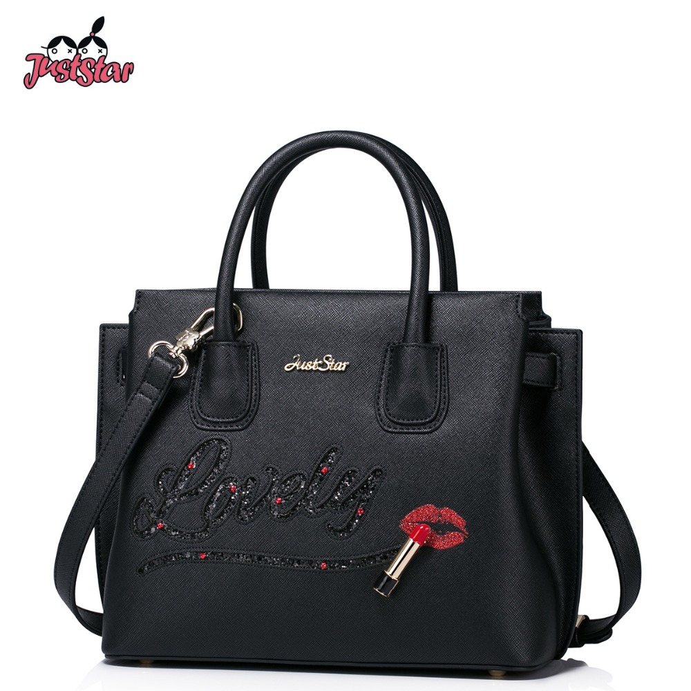 JUST STAR Women's PU Leather Handbag Ladies Fashion Hollow Out Tote Shoulder Pur