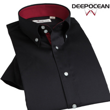 Новая мода Для мужчин рубашка короткий рукав Бизнес Рубашки для мальчиков Для мужчин S Повседневная рубашка из хлопка Демисезонный Slim корейской бизнес рубашка