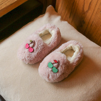 Baby Girl Boy Slippers Fur Warm Comfortable Casual Shoes For Little Kids Toddler Rubber Shoes Cotton