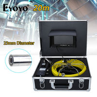 Eyoyo 20M 7 LCD 23mm Drain Sewer Pipe Line Inspection Camera Color Sun Shield System CMOS