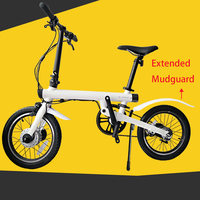 Extended Bike Tire Tyre Mudguard Front Rear Fender Shelf For Xiaomi Mijia Qicycle EF1 Electric Bike