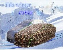Отли зимняя защита автомобиля крышка, утолщаются с хлопком, водонепроницаемый, снег обороны, град, сопротивление-40 градусов и ниже