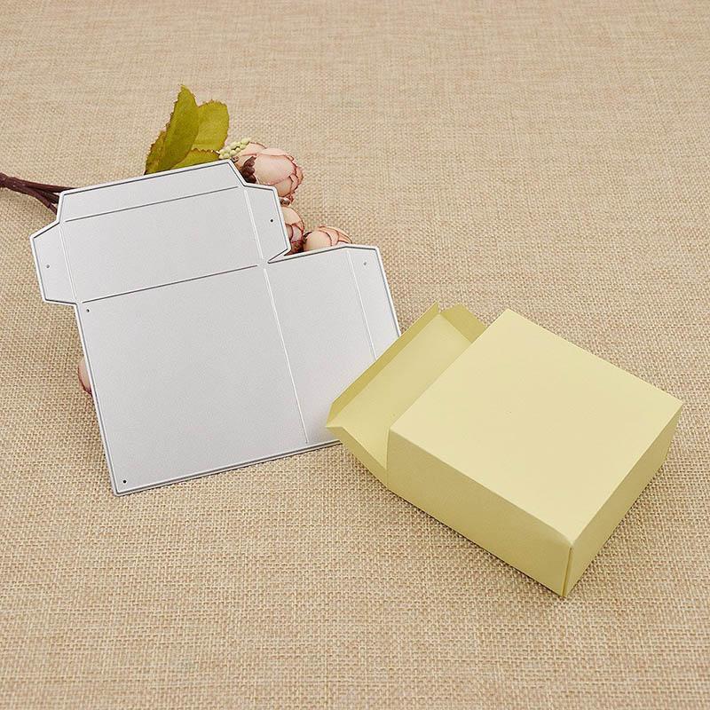 New Design Gift Box Metal Cutting Dies Stencils Scrapbooking Album Embossing Paper Card DIY Scrapbooking Dies Metal Gift Box