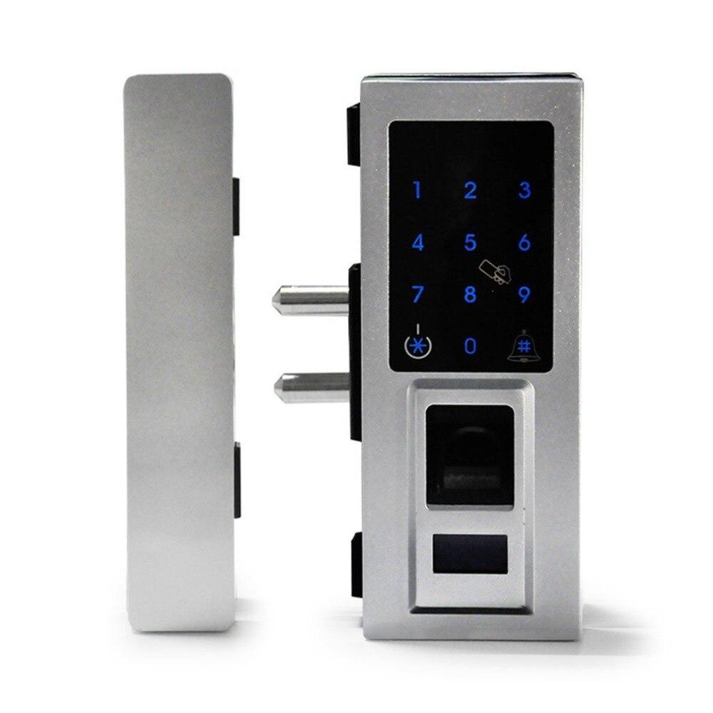 No Drill di Sicurezza Biometrico di Impronte Digitali Touchscreen Serratura Digitale per la Porta di Vetro Serratura Password con IC CardNo Drill di Sicurezza Biometrico di Impronte Digitali Touchscreen Serratura Digitale per la Porta di Vetro Serratura Password con IC Card