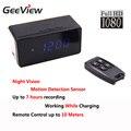 Full HD 1080 P Mini Câmera Digital Número Display Led Tempo Alarm Clock Desk Night Vision Câmera 2.4G Remoto controlador de Câmera