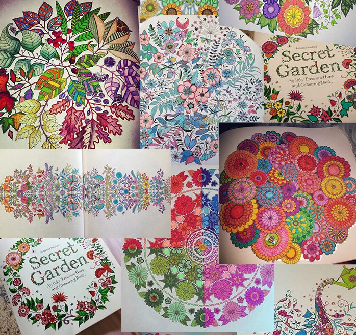 Korean Secret Garden An Inky Treasure Hunt And Coloring Book For Children Adult Relieve Stress Kill Time Graffiti Painting In Books From Office School