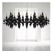Postmodern Nordic Italy black and white classic ball model showroom designer living room dining room art gallery chandelier